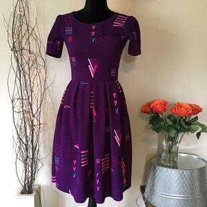 Lularoe XS Purple Amelia Dress